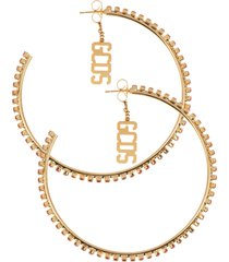 orecchini team sperkling logo hoops