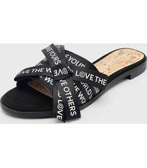 sandalia negro desigual