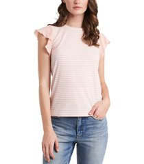 riley & rae suzi stripe-print flutter-sleeve top, created for macy's