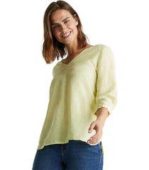 blusa en mezcla de lino lima esprit