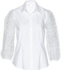 camicetta con maniche trasparenti (bianco) - bpc selection premium