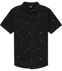 kultivate 2101010004 coordinates pique overhemd s 100-black -