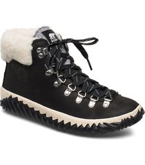 out n about plus conquest shoes boots ankle boots ankle boots flat heel svart sorel