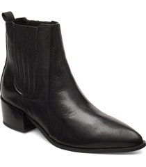 sage shoes boots ankle boots ankle boot - heel svart pavement
