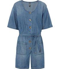 tuta di jeans con tencel™ lyocell (blu) - rainbow