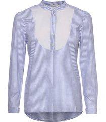 janelle blouse lange mouwen blauw six ames