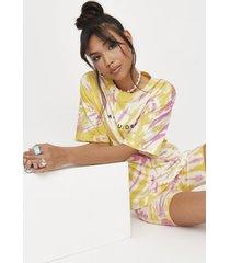 conjunto camiseta + bermuda missguided coord tshirt and cycle short multicolor - calce ajustado