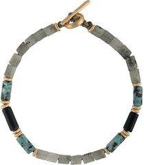 m. cohen mixed bead bracelet - grey