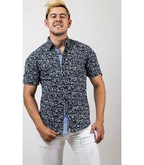 camisa de dos bolsillos manga corta classic design negra 609 seisceronueve