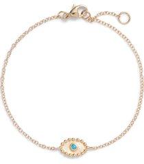 women's anzie dew drop evil eye turquoise bracelet