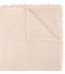 faliero sarti tassel edge scarf - neutrals