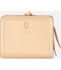 marc jacobs women's mini compact wallet - gold