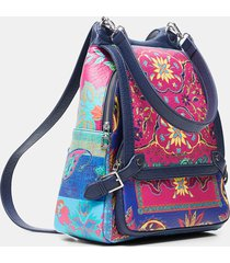 big backpack paisley - blue - u