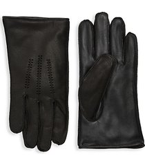 wrangle leather faux fur-lined touchscreen gloves