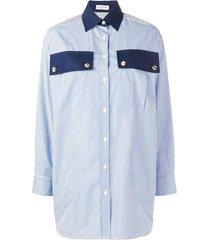 blue classic striped shirt