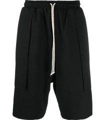 alchemy draped detail drop-crotch shorts - black
