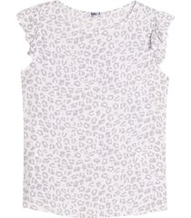 blusa mujer animal print m/c arandela color blanco, talla l