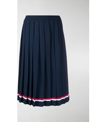 thom browne rwb-stripe pleated skirt
