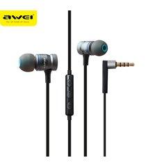 audífonos bluetooth manos llibres, 70ty stereo music sports in-ear con auricular de sonido de acero inoxidable (gris)
