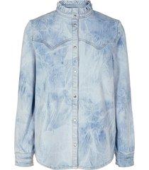jeans blouse jas silke  blauw