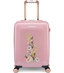 ted baker london small elegant print 21-inch spinner carry-on -