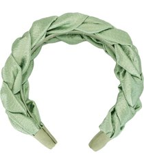 jennifer behr lorelai silk headband - green