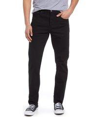 men's levi's 502(tm) regular tapered leg flex jeans, size 33 x 32 - black