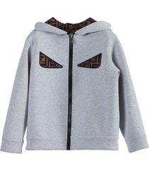 ff monster eyes zipped hoodie