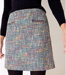 loft tweed zip pocket shift skirt