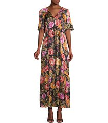 noa embellished floral peasant dress