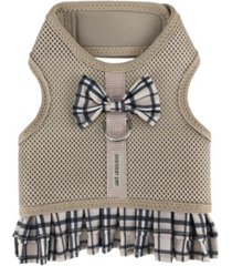 parisian pet plaid harness dog dress