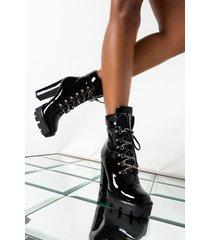 akira azalea wang breaking news chunky heel bootie in black