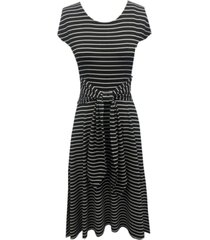 robbie bee striped tie-front midi dress