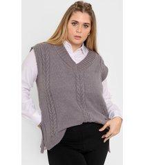 chaleco gris vindaloo miranda lana