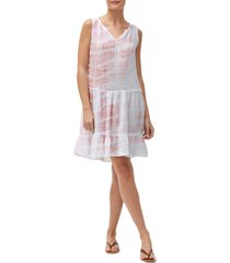 women's michael stars scarlett flounce dress, size small - none