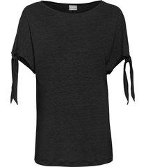 maglia boxy in lino (nero) - bodyflirt
