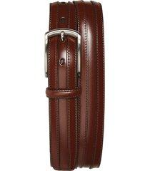 men's johnston & murphy calfskin belt, size 32 - chestnut