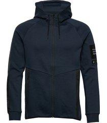 m tech zip hood hoodie trui blauw peak performance
