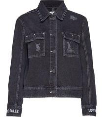 cropped worker jacket jeansjacka denimjacka svart zoe karssen
