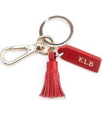 royce new york mini tassel key chain - red