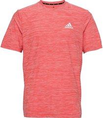 aeroready designed to move stretch tee t-shirts short-sleeved rosa adidas performance