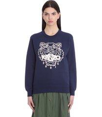 kenzo sweatshirt in blue cotton