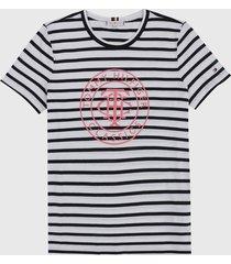 camiseta azul navy-blanco tommy hilfiger