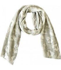 bufanda metalizada blanco/plata zagora