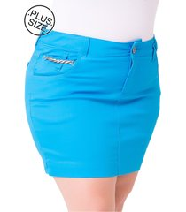 saia curta plus size - confidencial extra jeans jet color