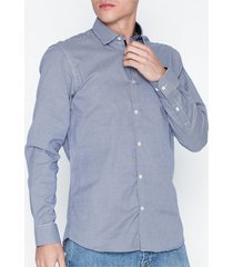 selected homme slhslimnew-mark shirt ls b noos skjortor dark navy