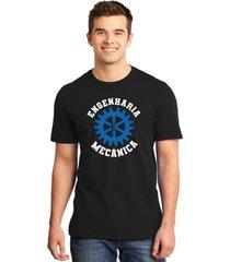 camiseta masculina universitã¡ria faculdade engenharia mecã¢nica - preto - masculino - dafiti
