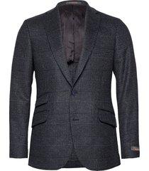 antonio tartan jacket blazer colbert blauw morris