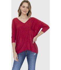 sweater bolsillo helena rojo racaventura