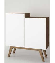 aparador buffet/bar modern branco e estilare mã³veis - branco - dafiti